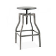 Design Lab MN LS-9201-GUN Machinist Gunmetal Adjustable Barstool