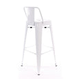 Design Lab MN LS-9100-WHTLB Dreux White Low Back Barstool Set of 4