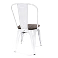 Design Lab MN LS-9000-WHTW Dreux White Dark Wood Dining Chair Set of 4