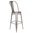Design Lab MN LS-9100-GUNHB Dreux Gunmetal High Back Barstool Set of 4