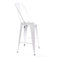 Design Lab MN LS-9102-WHTHB Dreux White High Back Counter Stool Set of 4