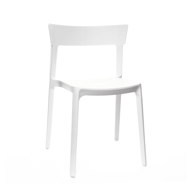 Design Lab MN LS-9604-WHT Rho White Outdoor Dining Chair Set of 4