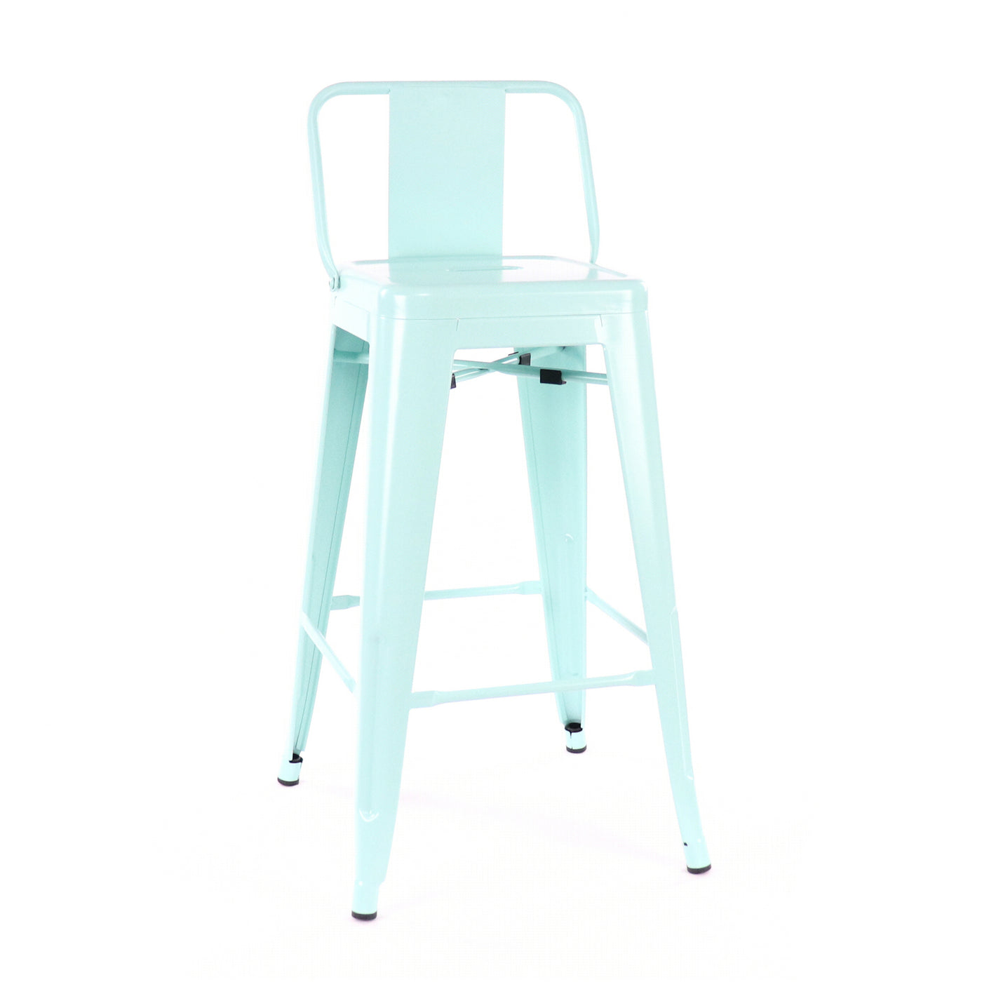 Design Lab MN LS-9102-PEPLB Dreux Mint Green Low Back Counter Stool Set of 4