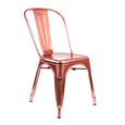 Design Lab MN LS-9000-CRGLD Dreux Metallic Rose Gold Dining Chair Set of 4
