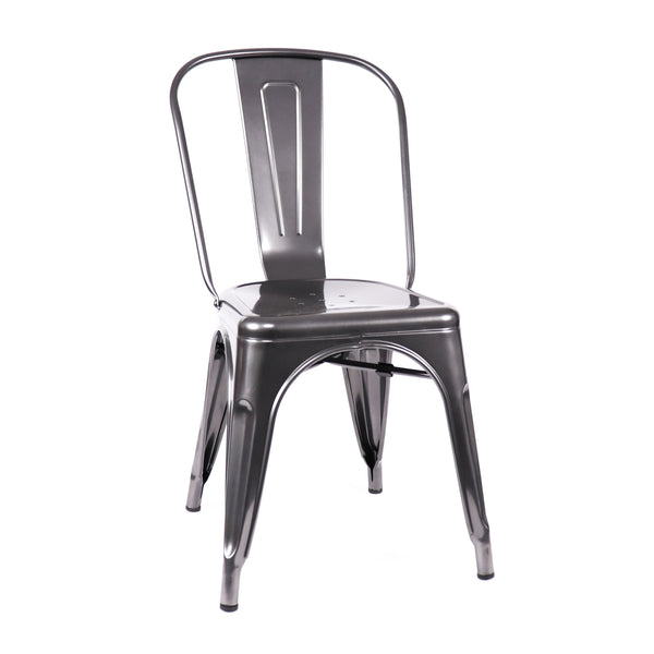 Design Lab MN LS-9000-DGUN Dreux Dark Gunmetal Dining Chair Set of 4
