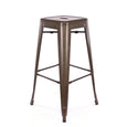 Design Lab MN LS-9100-RMT Dreux Rustic Barstool Set of 4