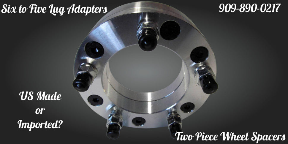 two piece wheel adapters