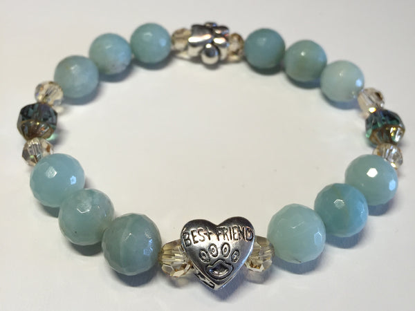 Best Friend  (For our Pet Lovers!  Available in assorted gemstone colors)