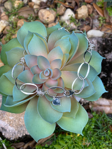 Bird's Nest Sterling Linked Anklet