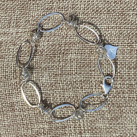 Bird's Nest Sterling Linked Bracelet