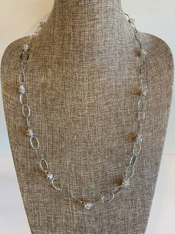 Bird's Nest Sterling Linked Necklace