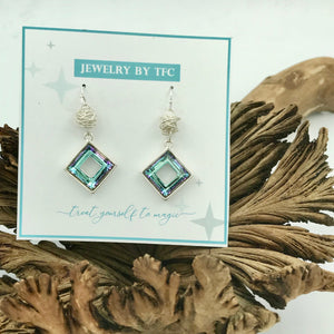Swarovski Wrapped Towne Square Earrings (Available in 6 Crystal Colors)