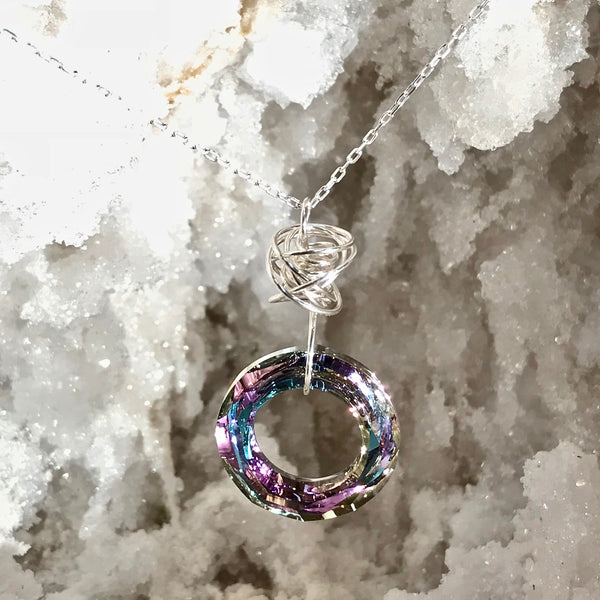 Endless Shine Necklace  (Available in 5 Swarovski Crystal Colors and in both Gold and Silver)