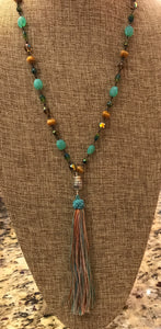 Sea and Sand Tassel Necklace