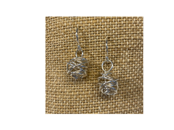 Bird's Nest Earrings ~ Available in Gold and Silver