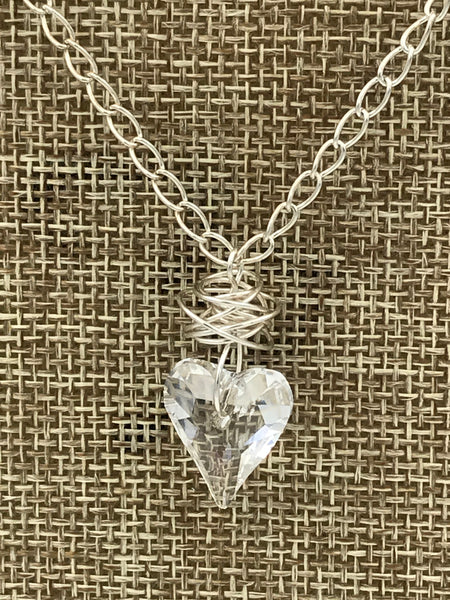 "Wild Heart Pendant Necklace (16, 18 or 20"" Chain Available)"