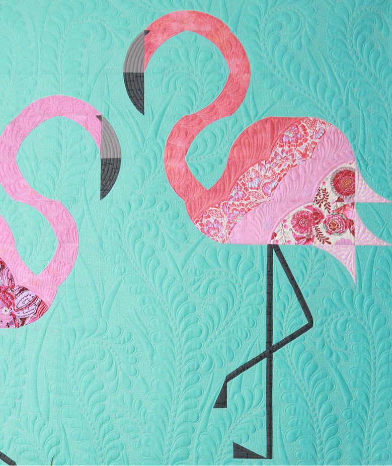 flamingo beak template - mod flamingos sew kind of wonderful
