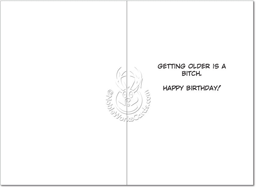 Angry Birthday Bitch Birthday Card - Sour Sentiments   - 2