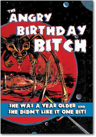 Angry Birthday Bitch Birthday Card - Sour Sentiments   - 1