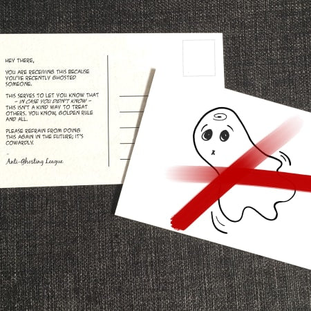 Anti Ghosting Post Card Front and Back