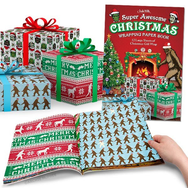 Super Awesome Christmas Wrapping Paper Book