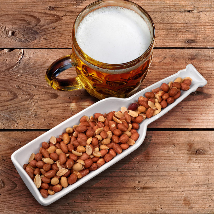 Beer Bites Snack Bowl with Peanuts and Beer