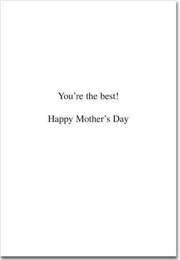 Child Proof Mother's Day Card - Inside
