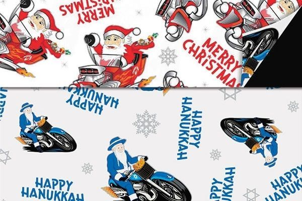 Chrismukka Wrapping Paper Both Sides Pictured