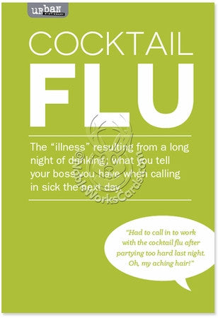 Cocktail Flu Get Well Card - Sour Sentiments