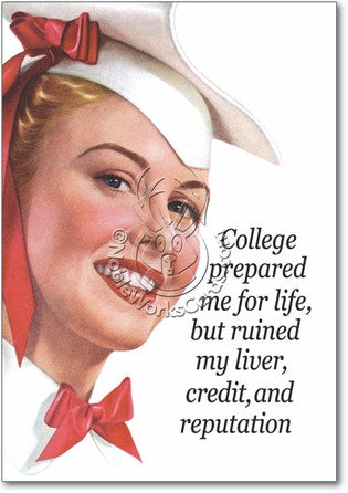 College Congratulations Card - Sour Sentiments   - 1