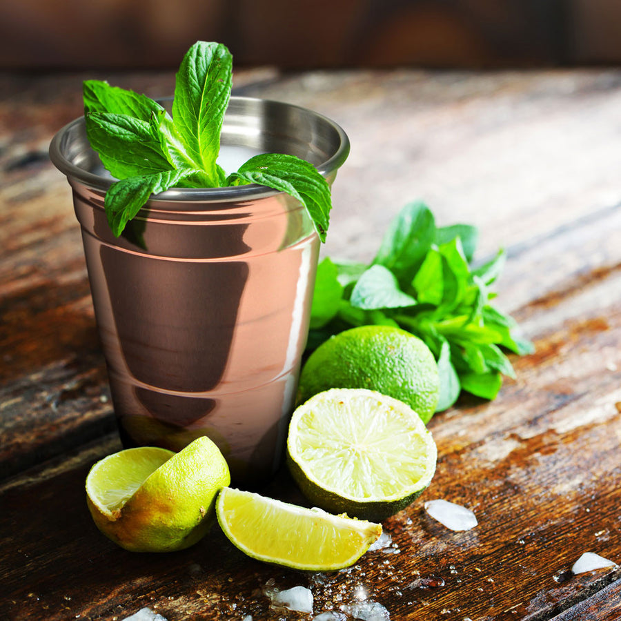 The Copper Party Cup With Lemon And Lime