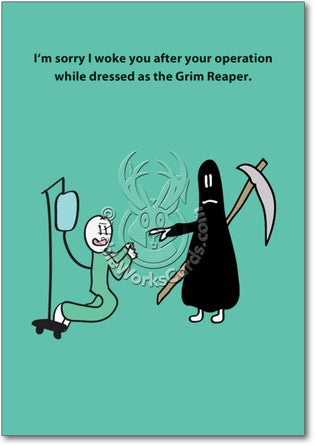 Dressed Like The Grim Reaper Get Well Card - Sour Sentiments   - 1