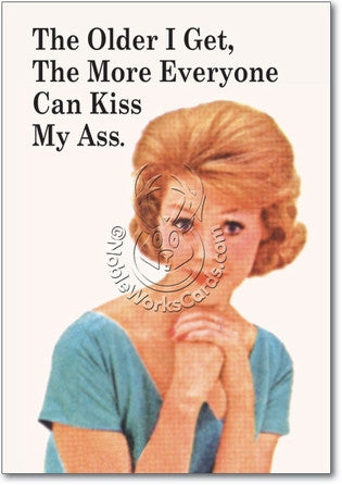 Everyone Kiss My Ass Card (Blank) - Sour Sentiments   - 1