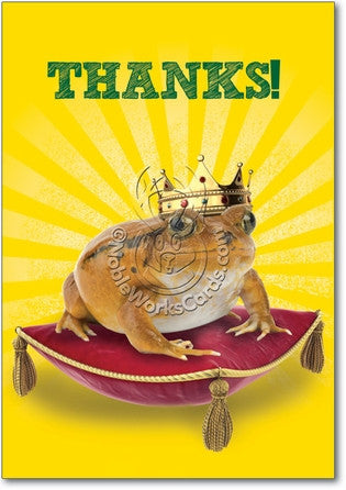 Frog Prince Thank You Card - Sour Sentiments   - 1