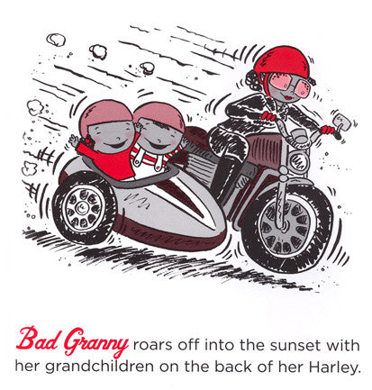 Good Granny Bad Granny Book - Granny on Motorcycle