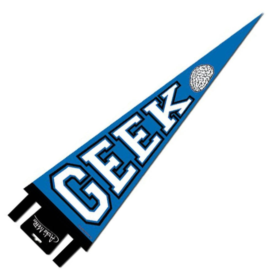 Geek Pennant Hung Diagonally