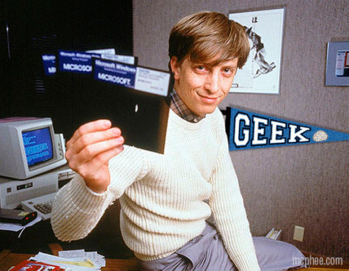 Geek Pennant With Bill Gates