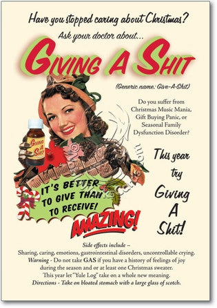 Give A Shit Christmas Card - Sour Sentiments   - 1