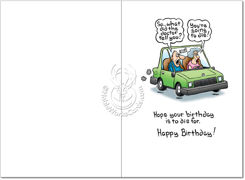 Going To Die Birthday Card - Sour Sentiments   - 2