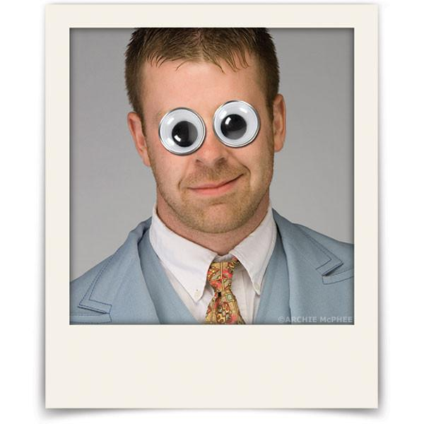 Googly Eyes On Photo Of Man