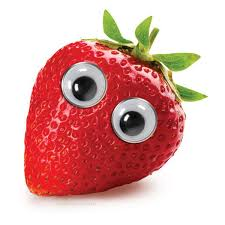 Googly Eyes On Stawberry