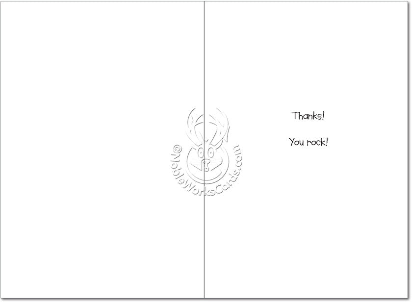 Granite Thank You Card - Inside