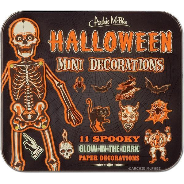 Halloween Mini Decorations Tin Box
