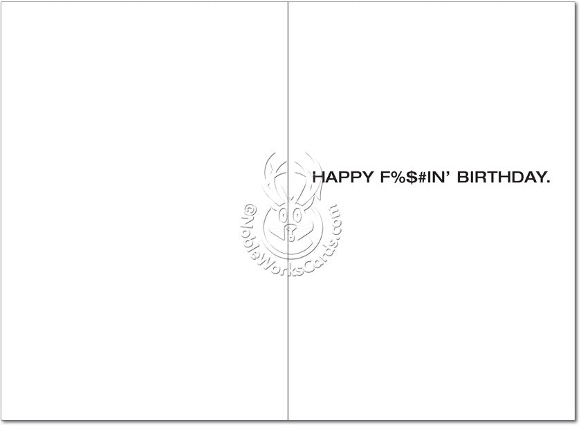 Fukitol Birthday Card - Sour Sentiments   - 2