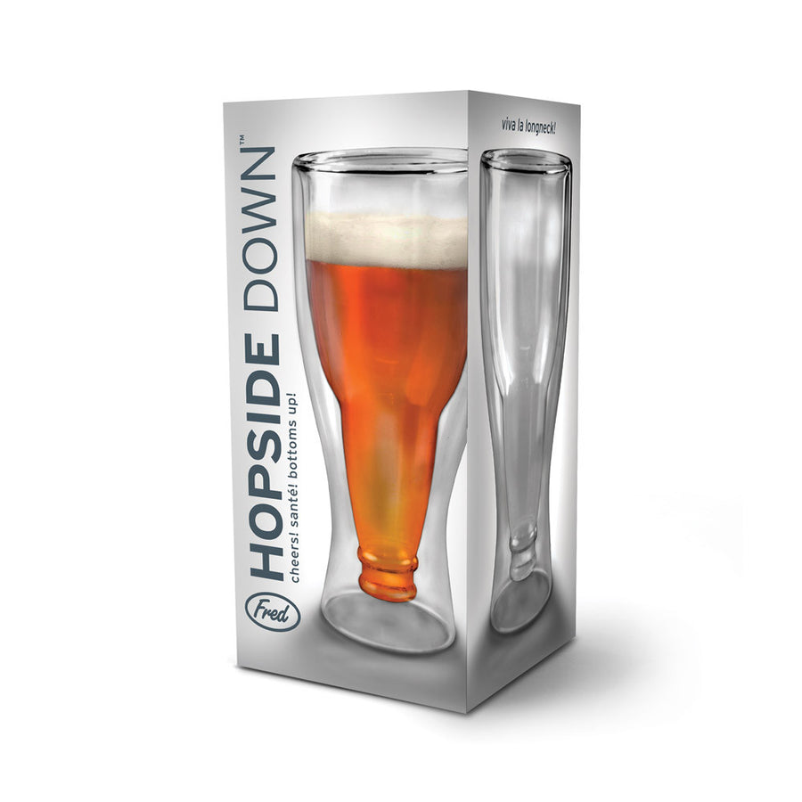 Hopside Down Beer Bottle Glass - Sour Sentiments   - 1