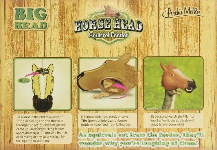 Horse Head Squirrel Feeder Illustrated Box Lay Out