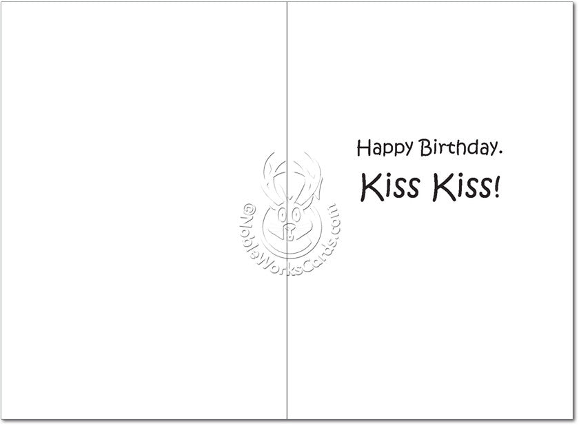 Kiss My Nose Birthday Card - Sour Sentiments   - 2