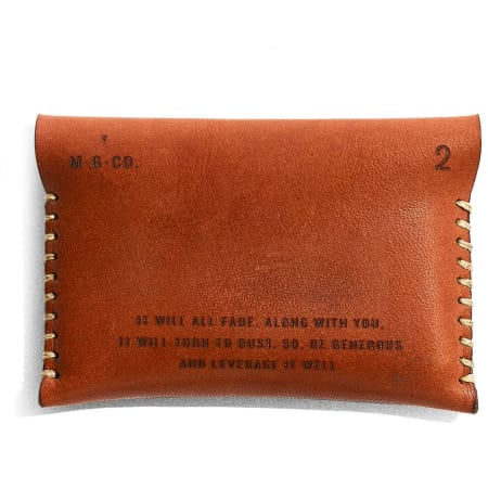 Leather Wallet Back View