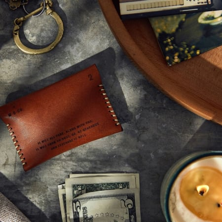 Leather Wallet On Desk