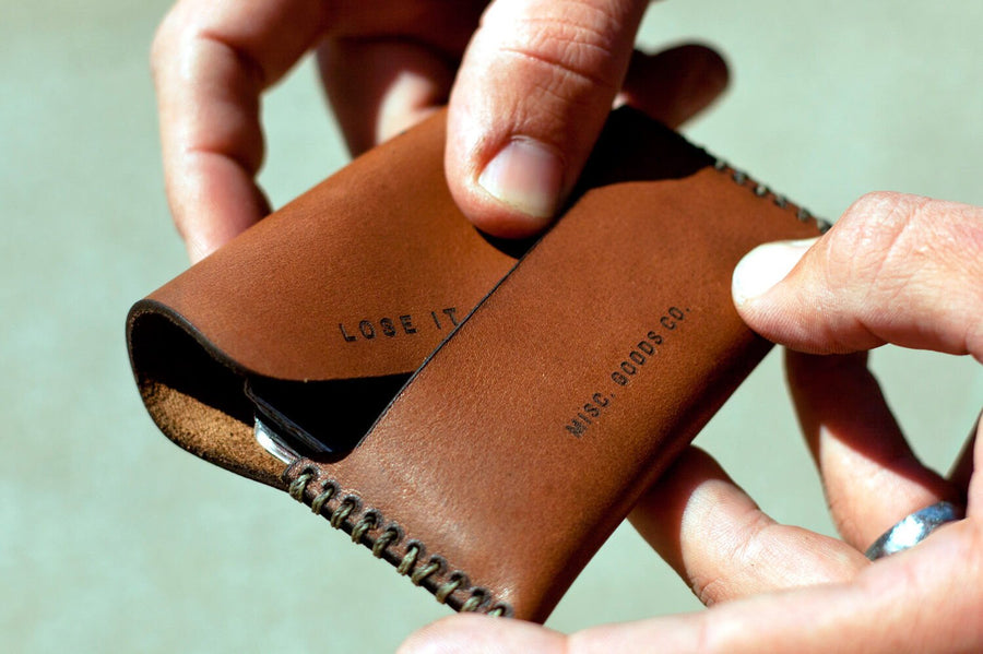 Leather Walled Held By Hands
